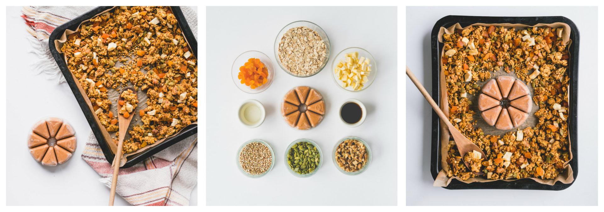 Le résultat final pour le recette de granola maison santé