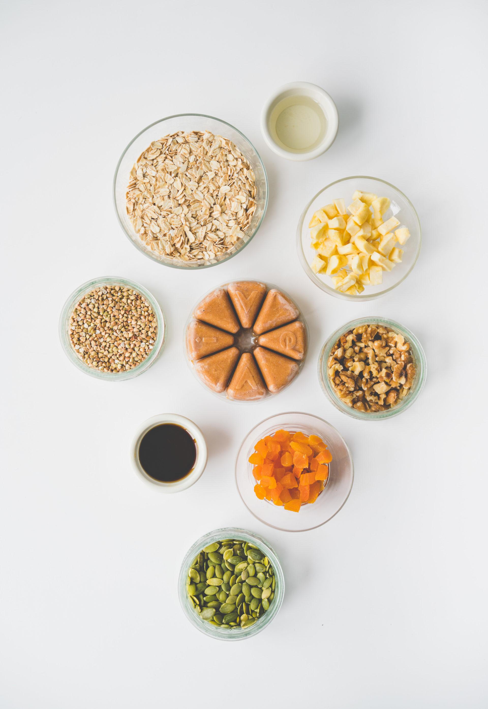 Les ingrédients pour notre recette de granola maison santé