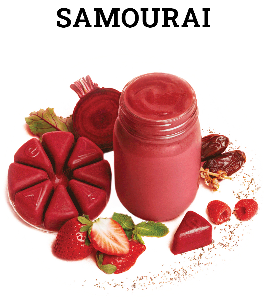 evive, evive smoothie, samourai, red smoothie